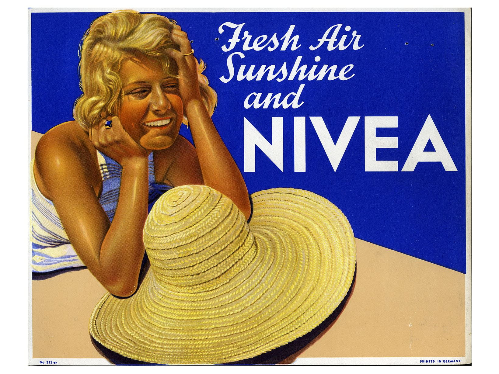 International NIVEA English-language advertising poster from 1934