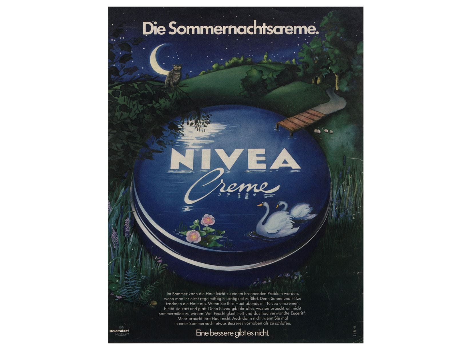 NIVEA advertisement from 1974: The summer night cream