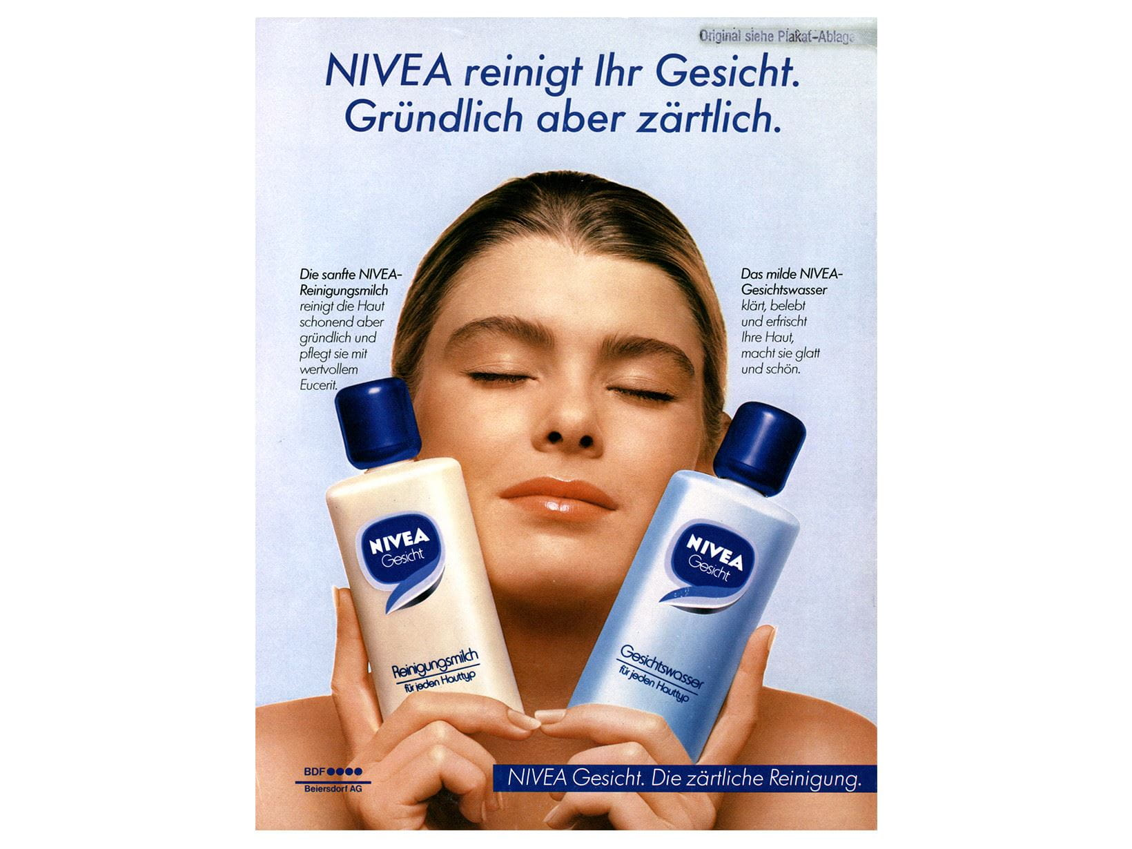 NIVEA advertisement Face 1982