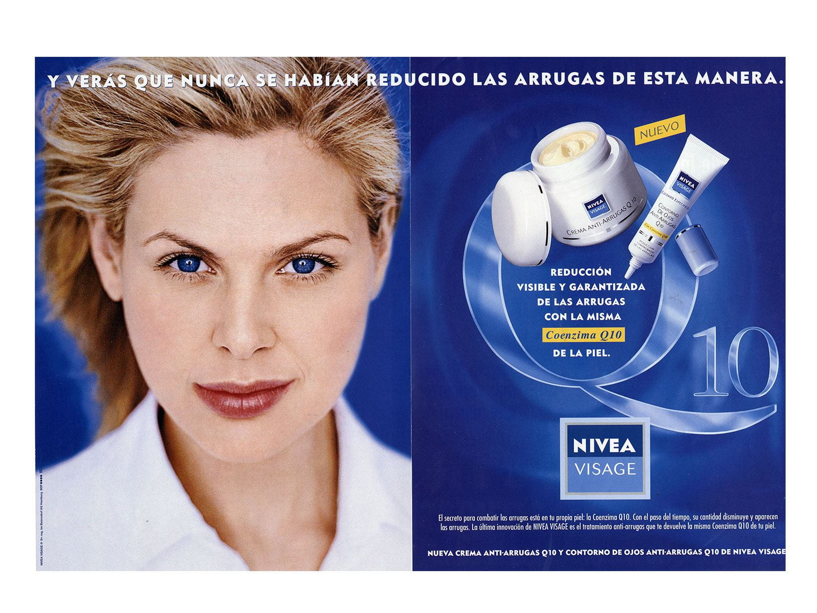 NIVEA Visage Q10 advertisement from 1998